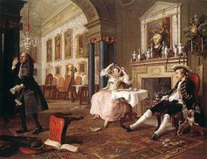 William Hogarth - The Tête à Tête, 2e werk uit Marriage à la Mode