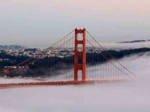 Beroemdste brug ter wereld is de Golden Gate Bridge in San Francisco
