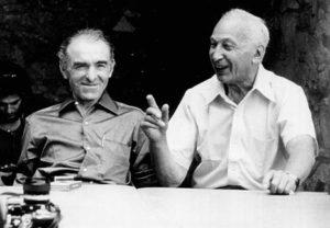 André Kertész (rechts) en Robert Doisneau, 1975