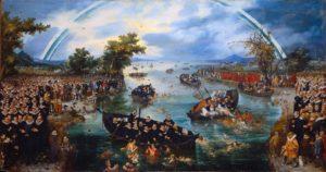 Adriaen van de Venne - De zielenvisserij, 1614