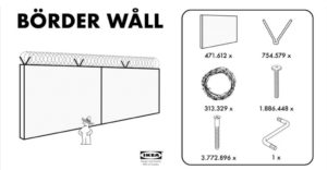 Donald Trump - The Wall Ikea