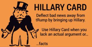 Donald Trump - Hillary Clinton Card