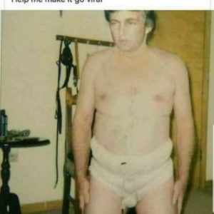 Donald Trump in zijn onderbroek