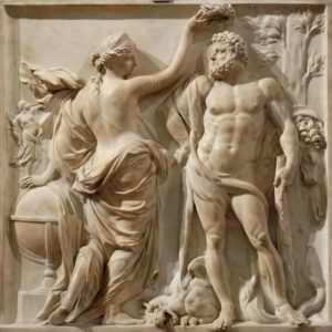 Hercules gekroond (1671) - Martin Desjardins