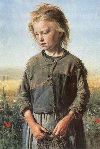Ilja Repin - Vissersmeisje (1874)