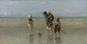 Jozef Israëls - Kinderen aan zee