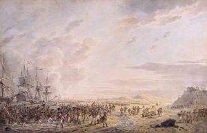 Dirk Langendijk - De landing van Britse troepen bij Callantsoog,1799