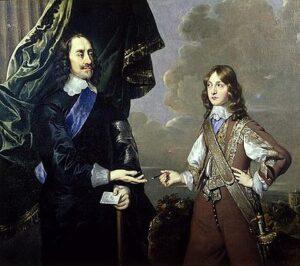 Portret van Karel I van Engeland en zijn zoon, Jacobus, hertog van York (1647) - Peter Lely, Londen, Syon House