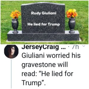 Rudi Guliani - He lied for Trump