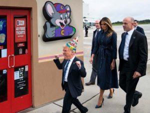 Donald Trump feestje n.a.v. resultaten tweejarig presidentschap