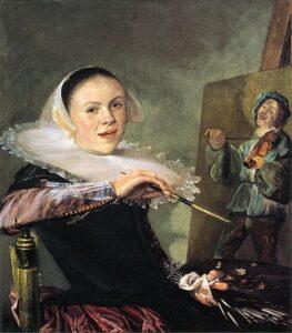 Zelfportret van Judith Leyster, 1630