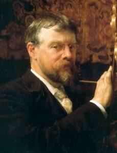 Zelfportret van Lourens Alma Tadema (1896)