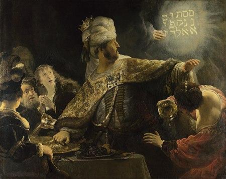 Rembrandt - Het feestmaal van Belsazar (1636-1638)