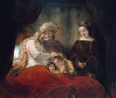 Rembrandt - Jacob zegent de zonen van Jozef (1656)