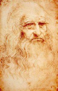 Zelfportret van Leonardo da Vinci uit ca. 1512-1515