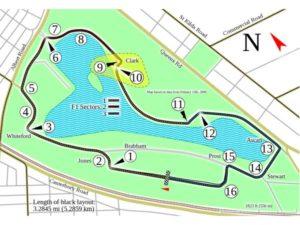 Albert Park Street Circuit in Melbourne