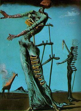 De brandende giraffe - Salvador Dali
