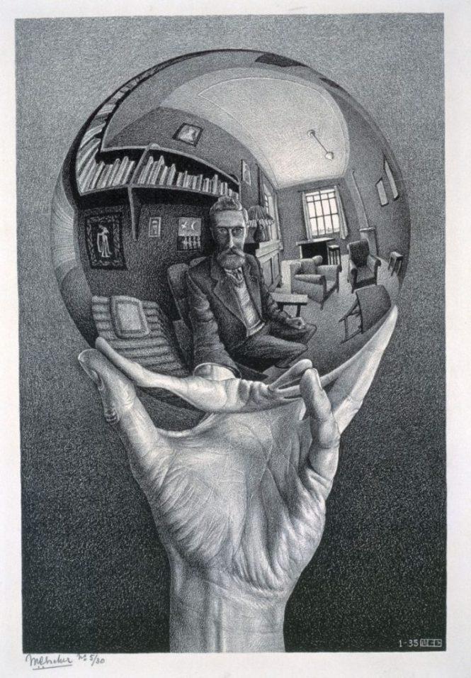 Hand met Spiegelende Bol - M.C. Escher