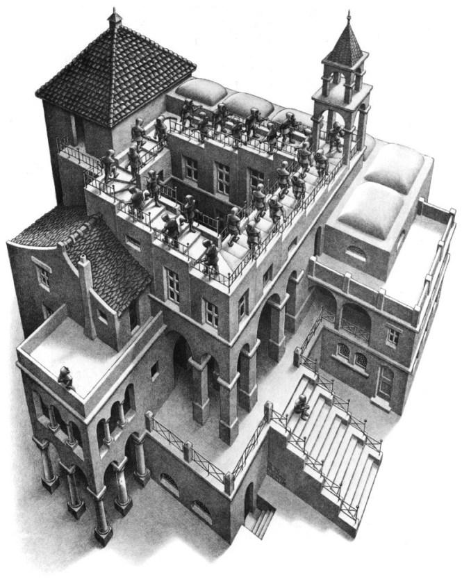 Klimmen en dalen - M.C. Escher