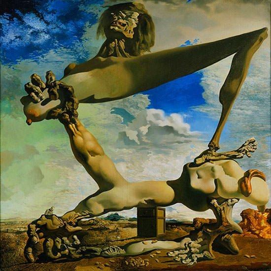 Zachte constructie met boontjes (Voorgevoel van de burgeroorlog) - Salvador Dali