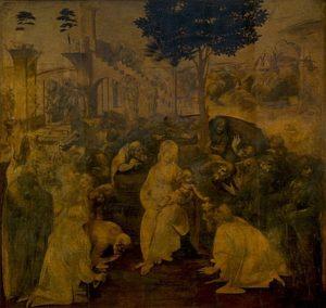 Aanbidding door de Wijzen - beroemdste schilderijen van Leonardo da Vinci