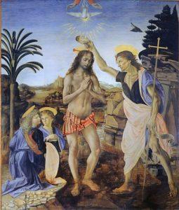 De doop van Christus = Andrea del Verrocchio and Leonardo da Vinci