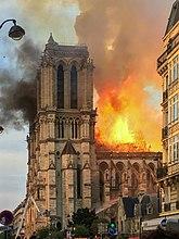 Brand in de Notre-Dame in 2019