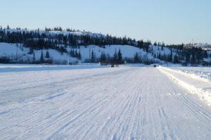 Dettah ijssnelweg Great Slave Lake