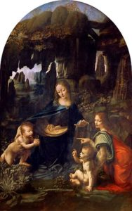 Maagd op de rotsen - beroemdste schilderijen van Leonardo da Vinci