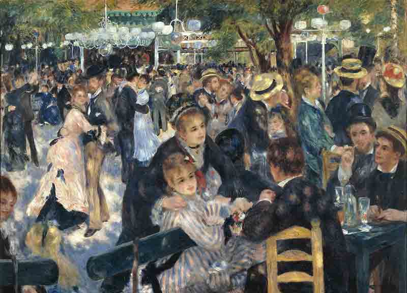 Dance at Le moulin de la Galette - Pierre-Auguste Renoir (1876)