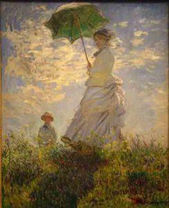 10 beroemdste schilderijen van Claude Monet = La Promenade / La Femme à l'ombrelle - (1875)