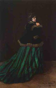 La femme en robe verte - Claude Monet (1866)