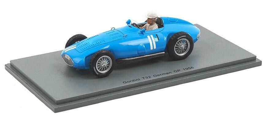 Andre Milhoux Gordini Type 32 #11 Duitsland GP formule 1 1956 1:43 Spark