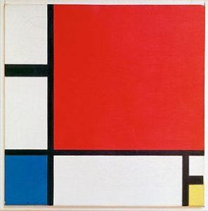 Piet Mondriaan: Compositie met rood, blauw en geel - 1930