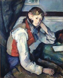 De jongen met het rode vest / Le Garçon au gilet rouge - paul Cézanne - 1888 / 1890