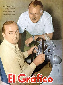 Hermann Lang en Karl Kling 1951