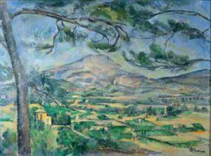 bekendste schilderijen van Paul Cézanne La Montagne Sainte-Victoire- Paul Cézanne - 1885-1887