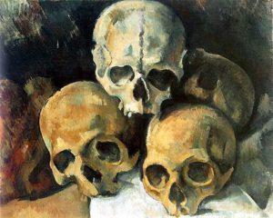 Piramide van schedels / Pyramide de crânes - Paul Cézanne - 1901