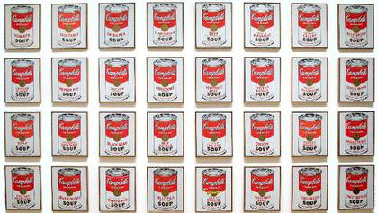 ndy Warhol - 32 Canvases of Campbells Soup Cans