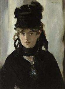 Berthe Morisot met een boeket viooltjes - Édouard Manet (1872)