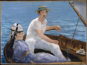En bateau - Édouard Manet (1874)