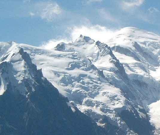 Mont Blanc - Hoogste bergen in Frankrijk