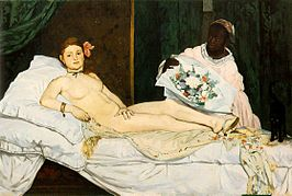 Top 10 bekendste schilderijen Édouard Manet: Olympia - Édouard Manet (1863)
