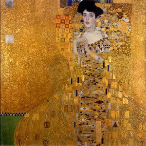 Portret van Adèle Bloch-Bauer I / Adele Bloch-Bauer I (1904 - 1907) - Gustav Klimt