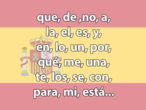 Meest gebruikte Spaanse woorden - De top 100