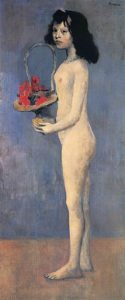 Young Girl with a Flower Basket
