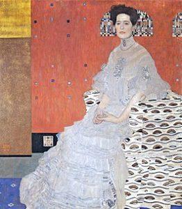 Portret van Fritza Riedler / Porträt der Fritza Riedler (1906) - Gustav Klimt
