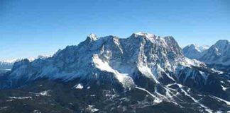Zugspitze- Hoogste bergen in Duitsland