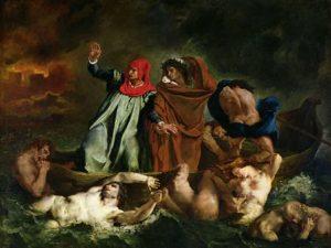 Dante et Virgile aux enfers / Dante en Vergilius in de onderwereld (1822) - Eugène Delacroix