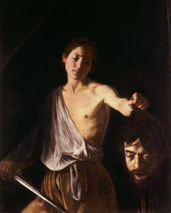 David met het hoofd van Goliath / Davide con la testa di Golia (ci. 1610) - Caravaggio